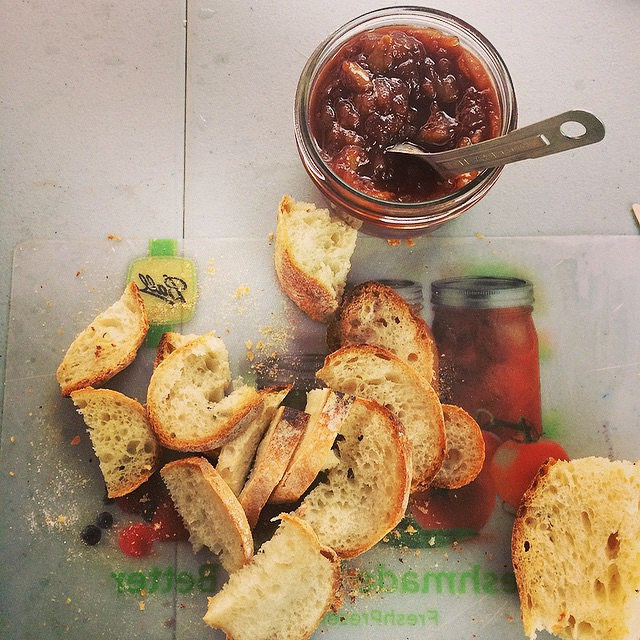 Pear and chocolate jam, with some gorgeous bread from Talking Breads.