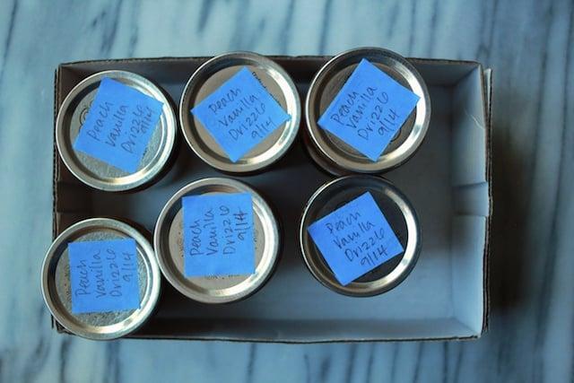 peach vanilla drizzle labels