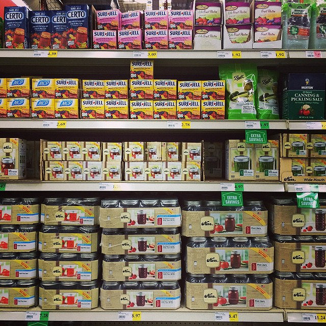 A well-stocked canning section just makes me happy.