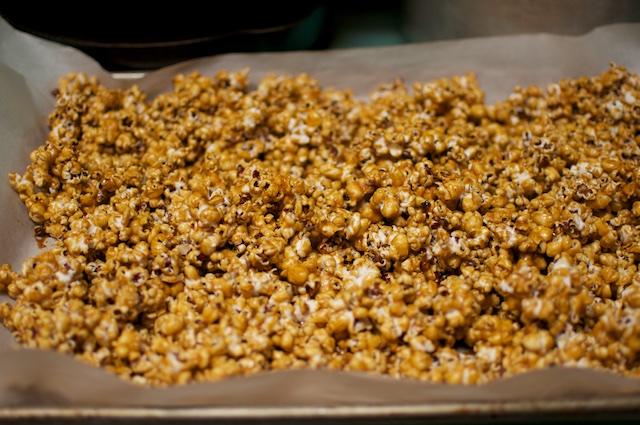 caramel popcorn sheet tray