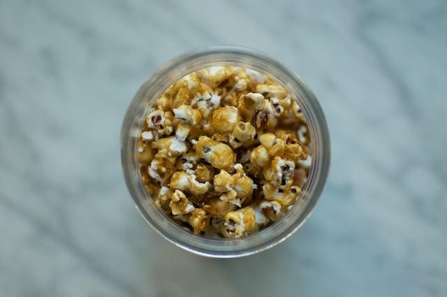 top of caramel corn