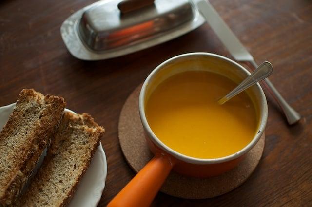butternut soup lunch