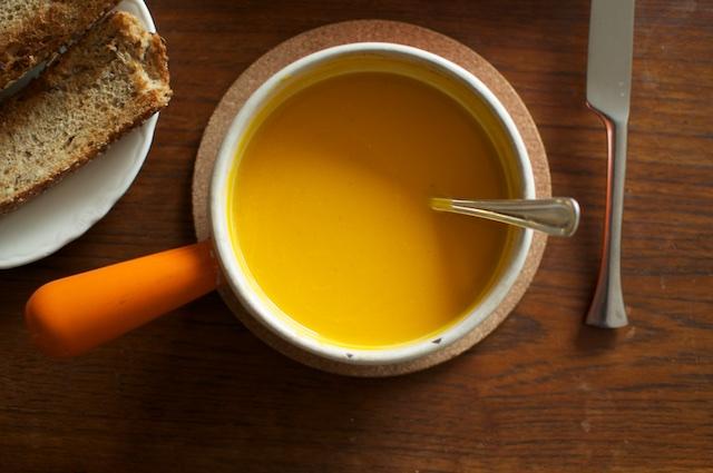 little pot of butternut soup