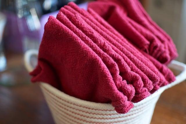 basket of napkins