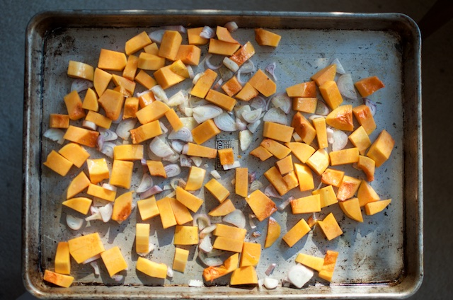 butternut squash & shallots