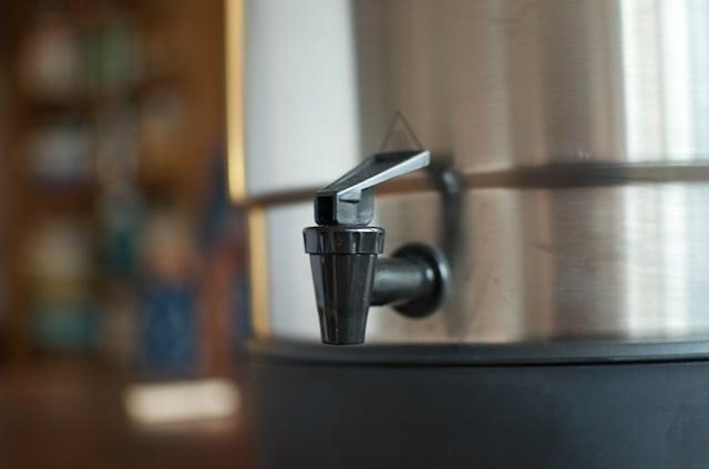 Ball FreshTECH Electric Water Bath Canner spigot.