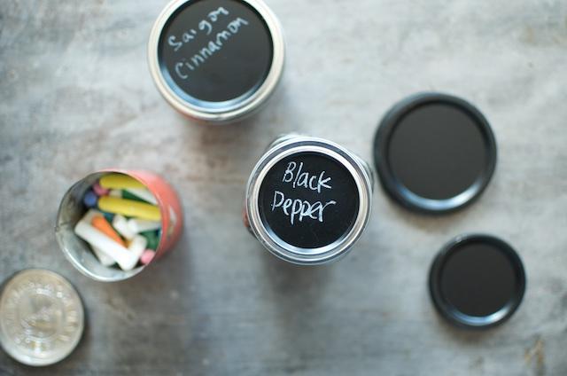 chalk tops on jars