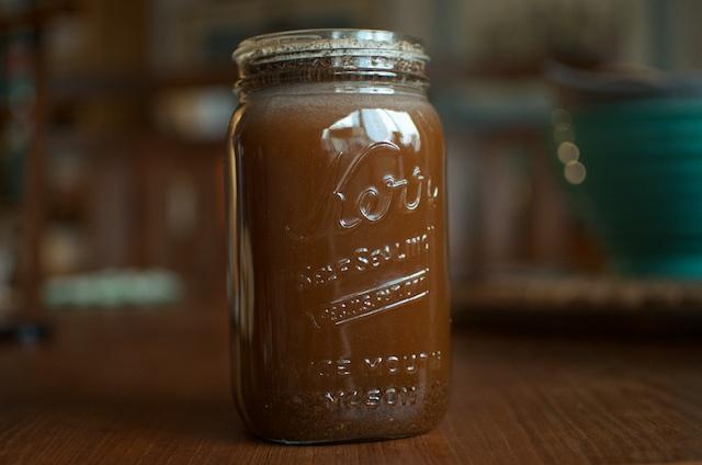 jar of brewing coffee
