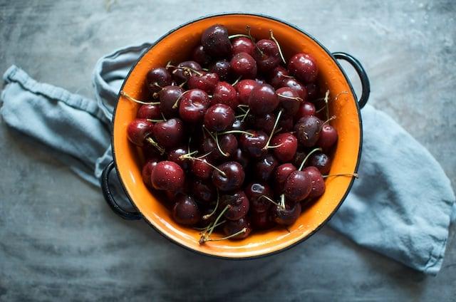 cherries in colander (1)