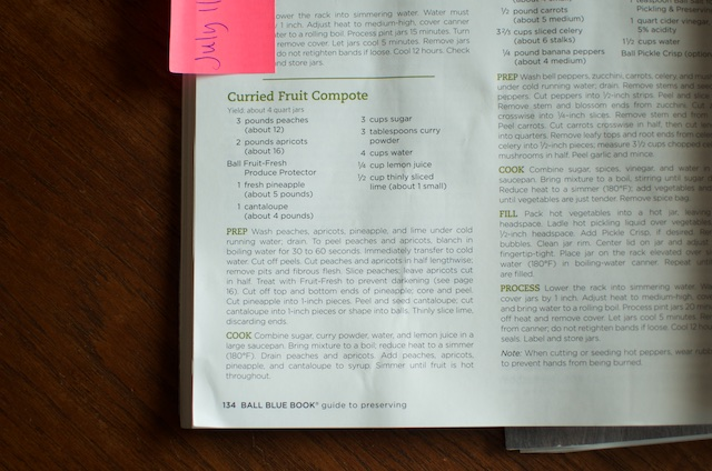 curried fruit compote recipe