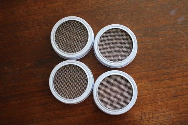 four strainer lids