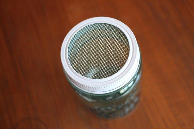 strainer lid on jar