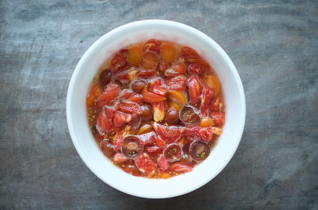 2 pounds macerated tomatoes