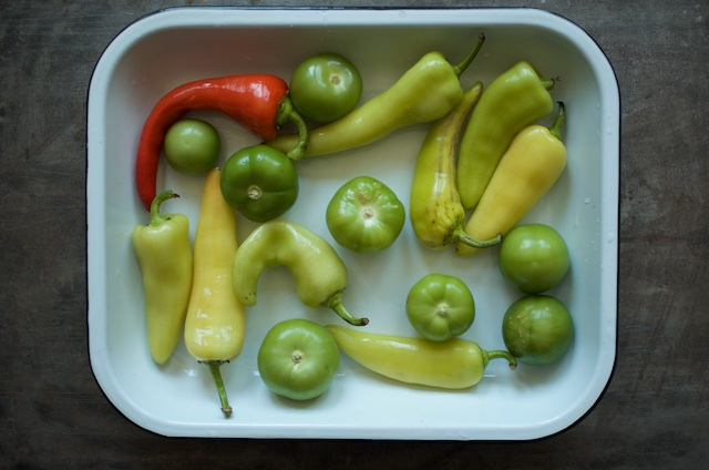 peppers tomatillos