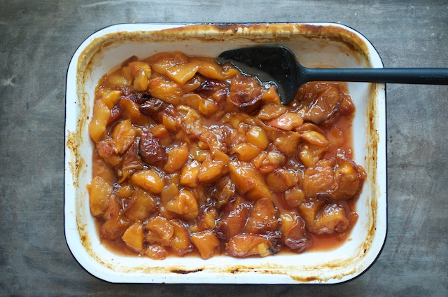 roasted nectarines