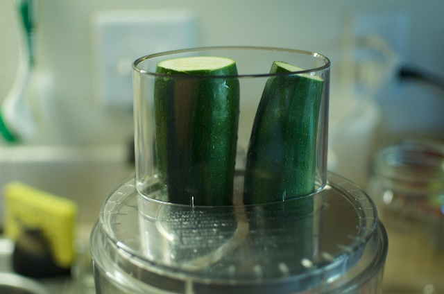 zucchini in food processor