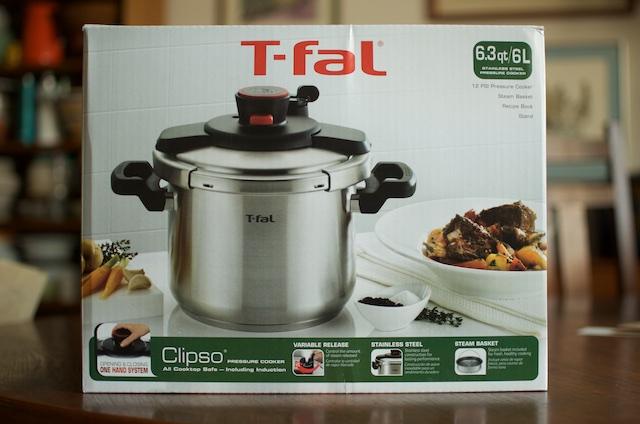 T-fal Clipso pressure cooker box