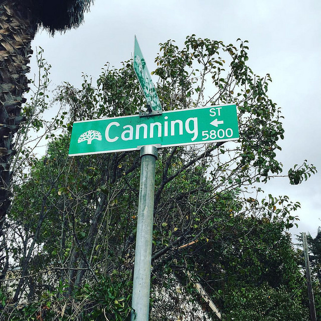 canning street sign