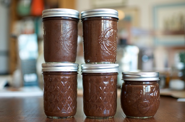 jars of plum butter
