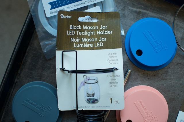 mason jar tealight holder