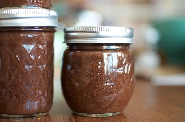 small jar plum butter
