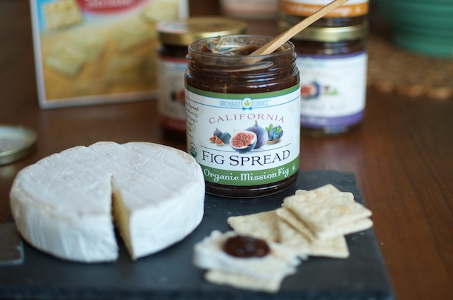 fig spread with brie