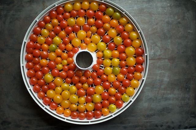 halved small tomatoes