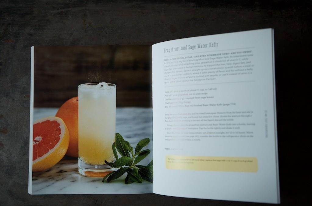 Grapefruit and Sage Water Kefir - Food in Jars