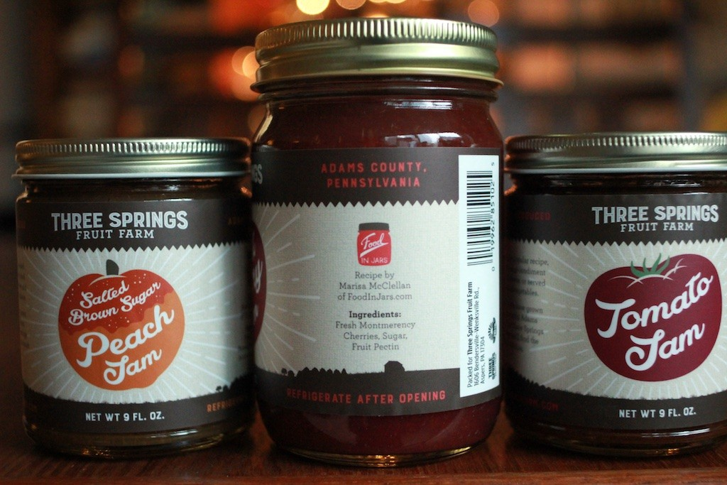 Food in Jars logo on Tart Cherry Jam