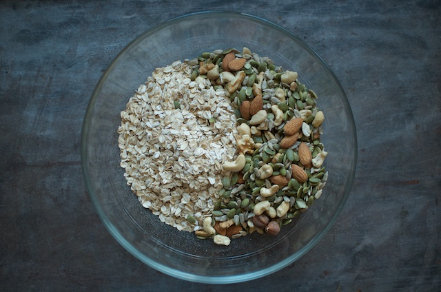 Oats and Nuts - Food in Jars