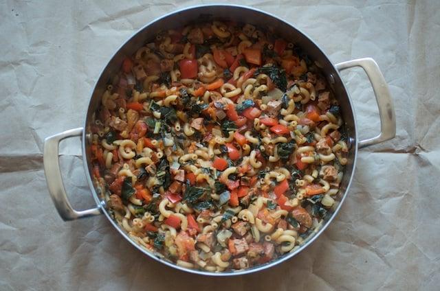 Finished Skillet Pasta - Food in Jars