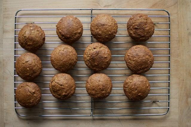 Oatmeal Fruit Muffins cooling rack - Food in Jars
