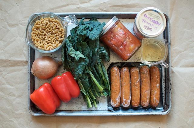 Skillet Pasta Ingredients - Food in Jars