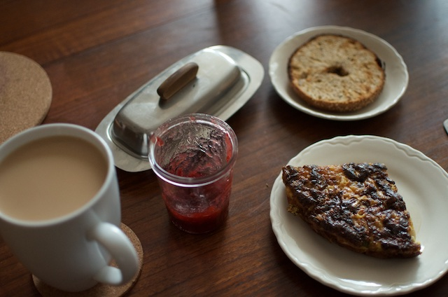 breakfast with tea and jam