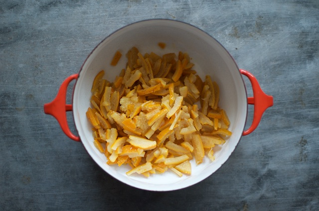 sliced Seville oranges for small batch marmalade - Food in Jars