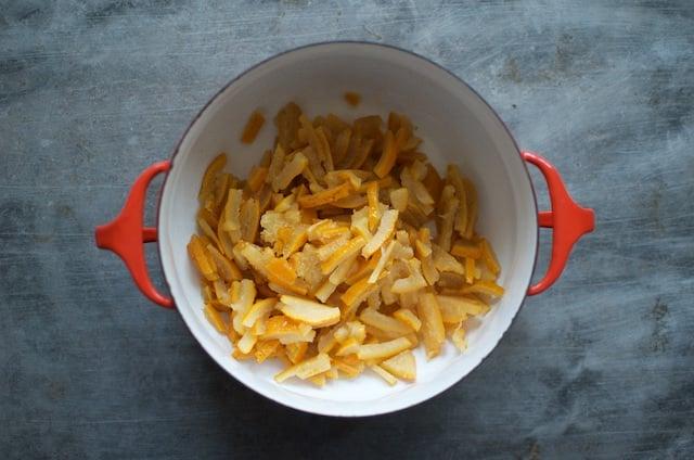 sliced Seville oranges for small batch marmalade - Food in Jars