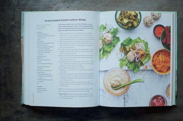 Falafel lettuce wraps in the cookbook Batch