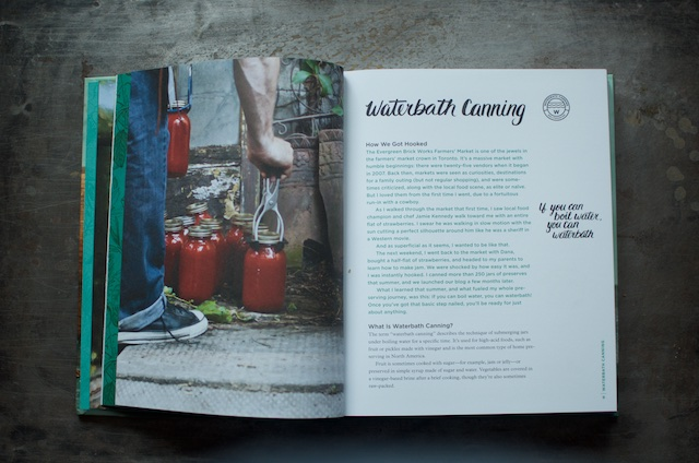 The waterbath preserving spread in the cookbook Batch