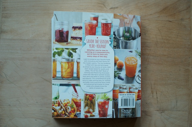 The All New Ball Book of Canning and Preserving Back Cover