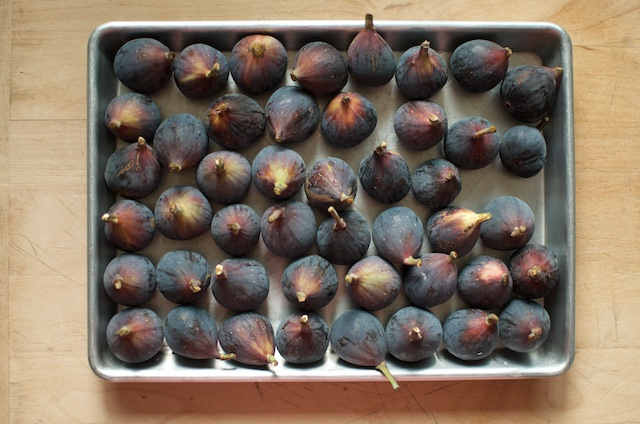 A tray of black mission figs