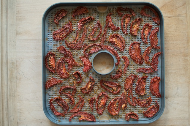 finished marinated dehydrated tomatoes