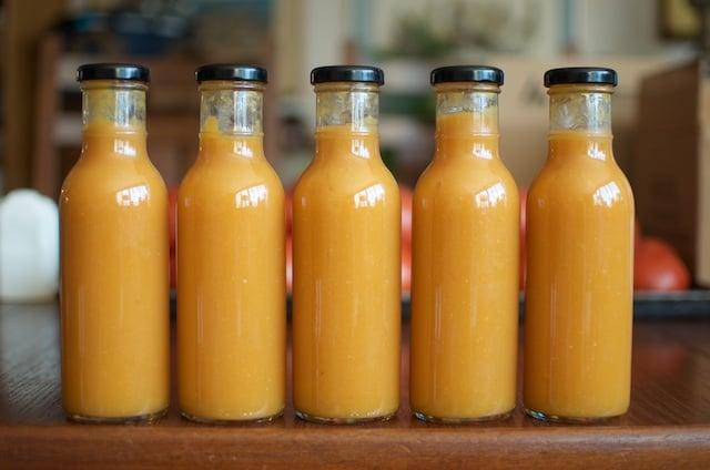 Finished Peach Habanero Hot Sauce