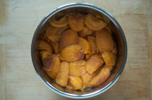 pressure cooked peaches for gingery peach butter