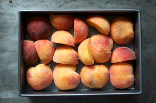 quick peeling peaches for peach habanero hot sauce