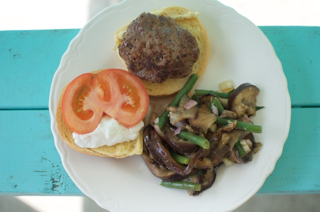 plated-burger