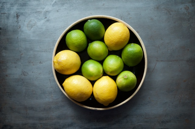 lemons and limes for lemon lime marmalade