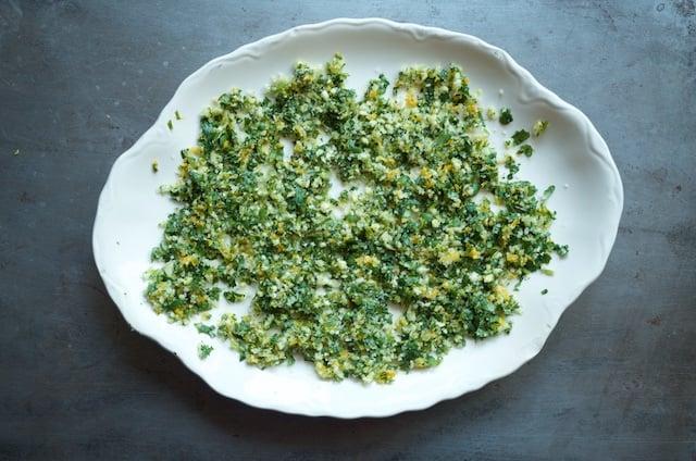 Finished Meyer lemon, garlic, & cilantro salt