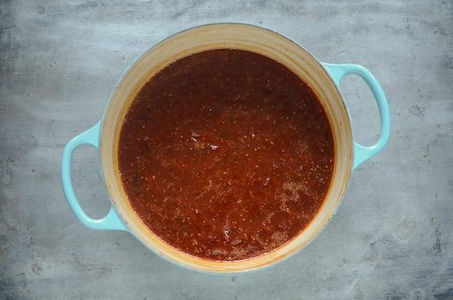cooked tomato jalapeño jam
