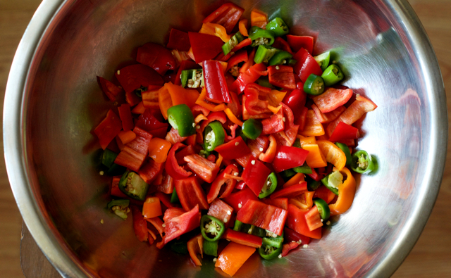 chopped peppers for hoagie relish