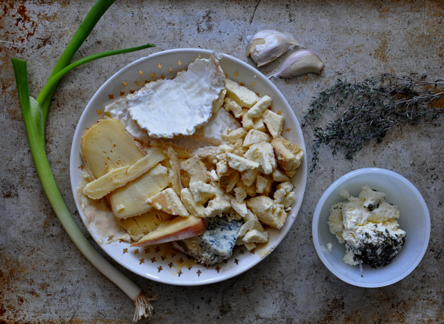Scrapes of cheese for fromage fort